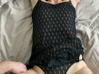 Sexy outfit on my sexy wife. New lingerie on the way!