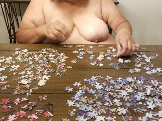 Topless puzzle work.