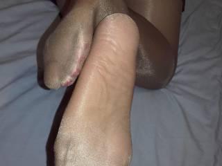 wifes sexy nylon feet
