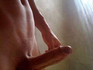 damn, my wife wants to feel your very thick cock in her tight pussy and I have to watch it, you're a lucky man