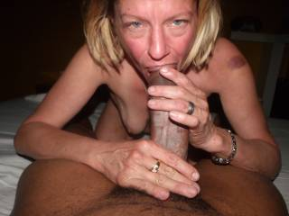 MORE OF MY FRIENDS WORSHIPING MY BLACK COCK. HARD TO BELIEVE THAT SHE HAS LIVED 51YRS WITHOUT ENJOYING THE PLEASURES OF BBC. SHE IS A NATURAL. I HAVE SINCE ALLOWED SOME OF MY BLACK FRIENDS TO BREED HER. PLEASE DON\'T TELL MY BUDDY I\'VE TURNED HIS I