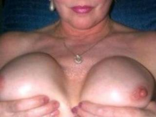 She loves to have these sweet tits sucked or at least show them off. Interested?