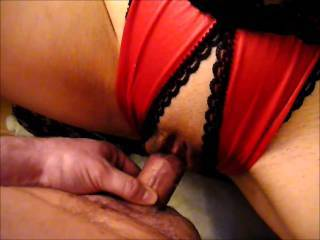 I love your creampie clips mmmmmmm so yummy and your wife's cunt looks so hot with that red and black lingerie - how about a short clip of an anal creampie? :) xxx