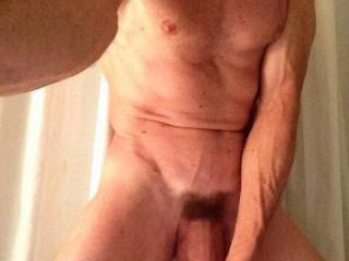 With a cock like that....oh fuck yes.  I'd like to suck you hard and then get on all fours.  I'd love to feel all of that cock in me.  MILF K