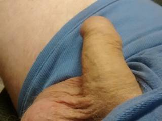 My girlfriend like to see my dick hanging out so see can play with it.
