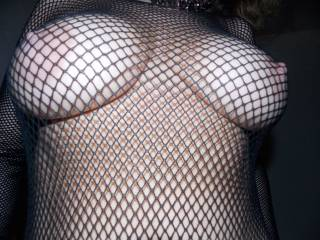 fishnet and boobs