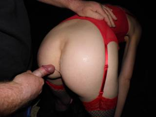 Our zoig friend wanted to cum over her bum so Joanne let him