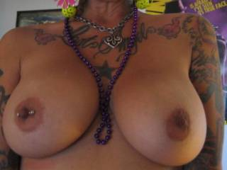 My friend likes to pose nude for me. She knows I jerk off to these. I have a lot of pictures of her and her big tits. She wants to have a threesome with two big black cocks, she said I could be the cameraman. Let\'s hope