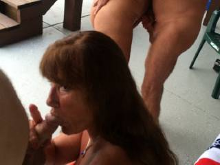I love to suck cock, especially in a group setting!  It gets me so excited, I usually end up being fucked in every hole!  Yea!