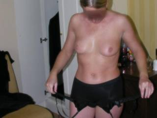Hey, she's nice and hot; sexy too! I'd like to bring my buddies with me to take turns with her over a weekend! She'd like it! You can even join!