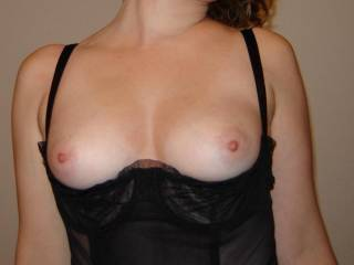 you have great tits mmmm and luv your nipples would love to suck and lick them