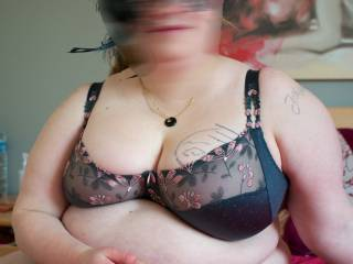 Young BBW friend in lingerie