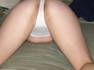 wifes ass in a thong bent over