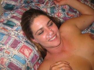 Awesome cum shot and very pretty lady