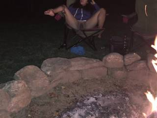 Getting naked by a campfire!