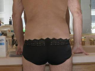 My butt definitely looks better in my black panties than Mr. Floridaman's does!!  From Mrs. Floridaman