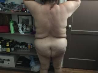 After shower still has nice firm legs, tight butt.