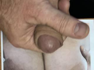 Those Tits…. Mmmmm @cumfun4u, loves a tribute, I love giving them especially on those glorious tits!  xxx