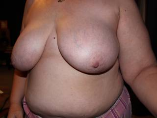 """Getting my 'girls' out for the boys! (this is a selfie. Bf texted me saying that he and his mate were on a break at work and were bored. """"Send us a pic of your boobs""""... he didn't for one moment think I would!... but I did! Mate apparently impressed lol)"""