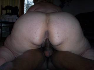 Nothing better than a thick beautiful white ass riding u. Great lookin pic.