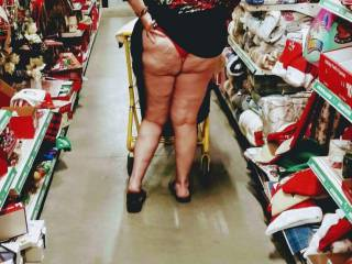 """We where going down the """"gift"""" isle so I figured it was time to give him a hint, about what is coming to him for the Holiday..Mmmm"""