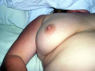 Nice hard nipple for you to suck.