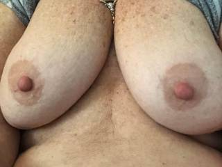 She may be my older side pussy but she still has great tits.