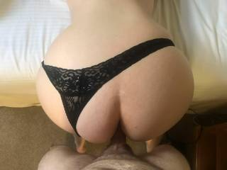 Her Big ass in a sexy thong really turns me on. How does her ass look in these knickers?