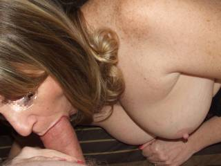 Mmmm, nice cock I'd like to suck it myself.  I bet she likes more than just his big cock.  I know I sure do.  MILF K