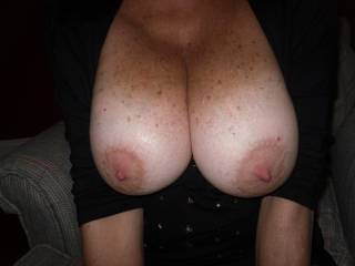 Come and feast on my big natual heavy DDD cup tits.  My nipples are very sensitive.  Will you suck on them for hours?