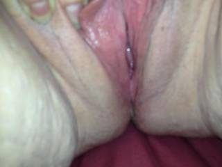 I'd LOVE to kiss and lick those sweet pussy lips, and help you enjoy an orgasm or two; or five!!!
