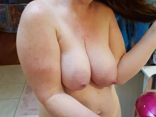Would anyone like to nurse on my big milk filled breasts?