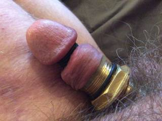 Cock modification using rubber rings and brass rings