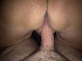 Riding his cock good and long.  Luv fucking my man in this position❤️❤️