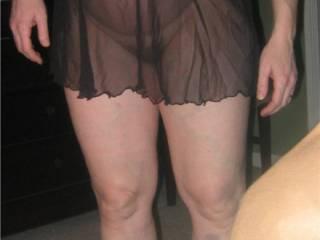 Wife, very pregnant in heels