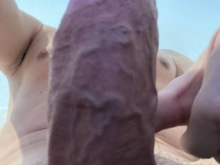 My veiny cock for you. He needs some attention - who wants a ride?