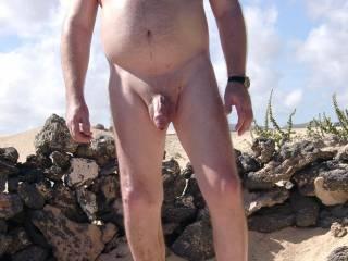 on a nudist beach