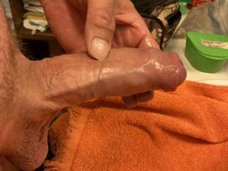 Just before stroking