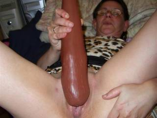 I can't see that thing fitting in your tight little pussy!! LOL