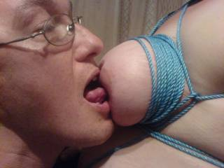 wonderful tits and i dont blame your hubby for wanting to suck on your hard nipples