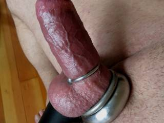 i put multiple rings on my cock and balls to make it really hard