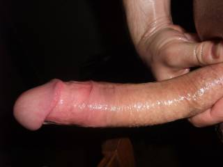 My cock is rock hard, all oiled up and lubed for you. How would you use it?