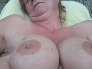 Just horny, suck my tits please!