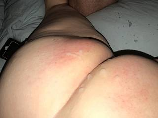 wifes friend came on her ass while I watched