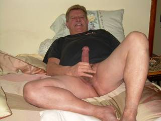 Stroking my cock hoping to get a helping hand.
