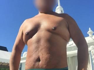 Bikini, speedo, thongs, underwear, sunbathing, outdoors, Fire Island