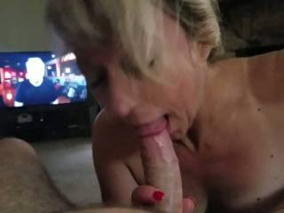 My man just getting home he told me to strip get on my knees and suck his dick. And I love it when he tells me what to do