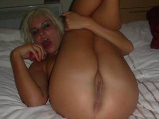 Alex wants to try her new toy out xxx