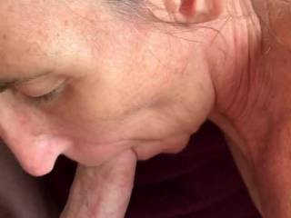 Was rubbing my cock on her pussy and decided that she should suck my cock for a few minutes before I fucked her. Tough choice, so why not do both!