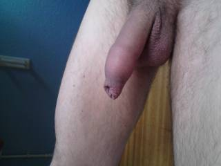 I love my thick uncut cock also..and yours too...it looks great..nice and thick and highly arousing...wonderful!
